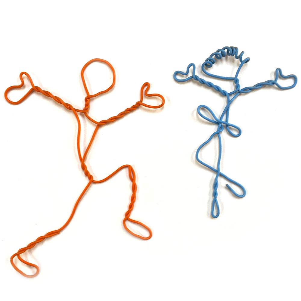 simple wire figures