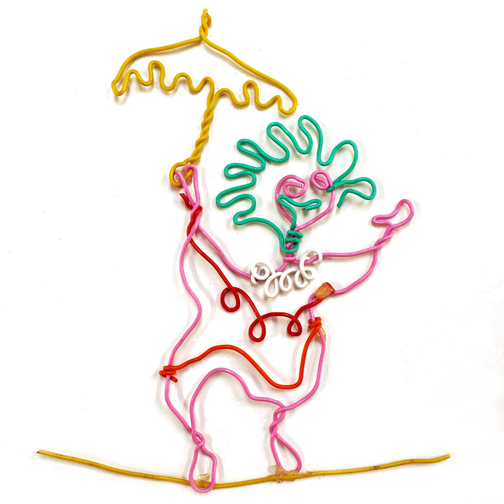 wire clown figure