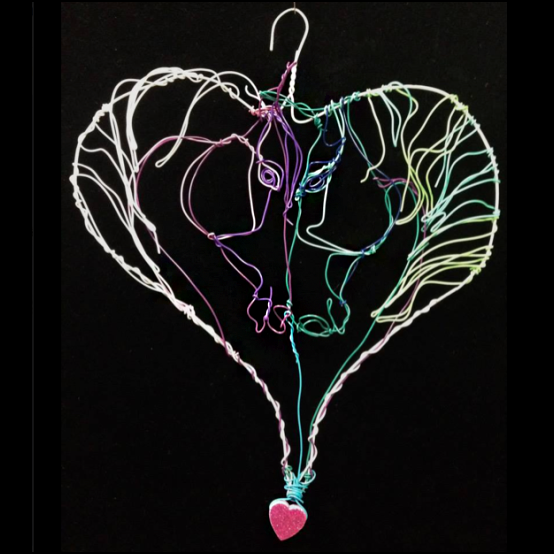 wire Horse heart