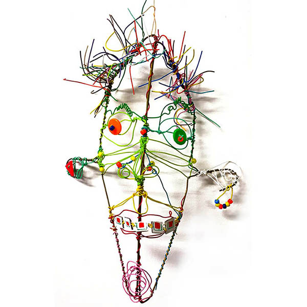 Wire mask on white