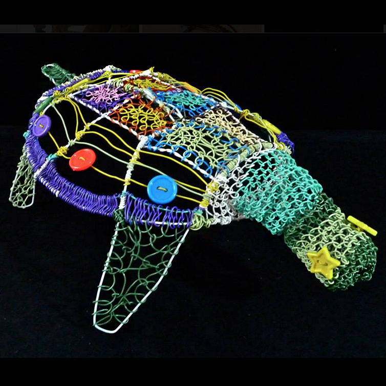 Wire Turtle made with 4 hangers