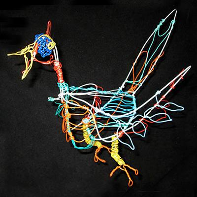 Coat hanger twisteez wire bird