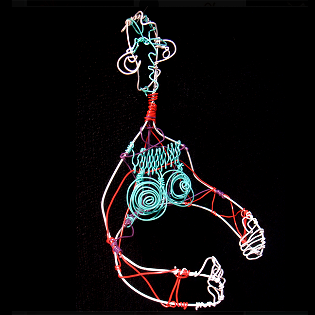wire coat hanger figure
