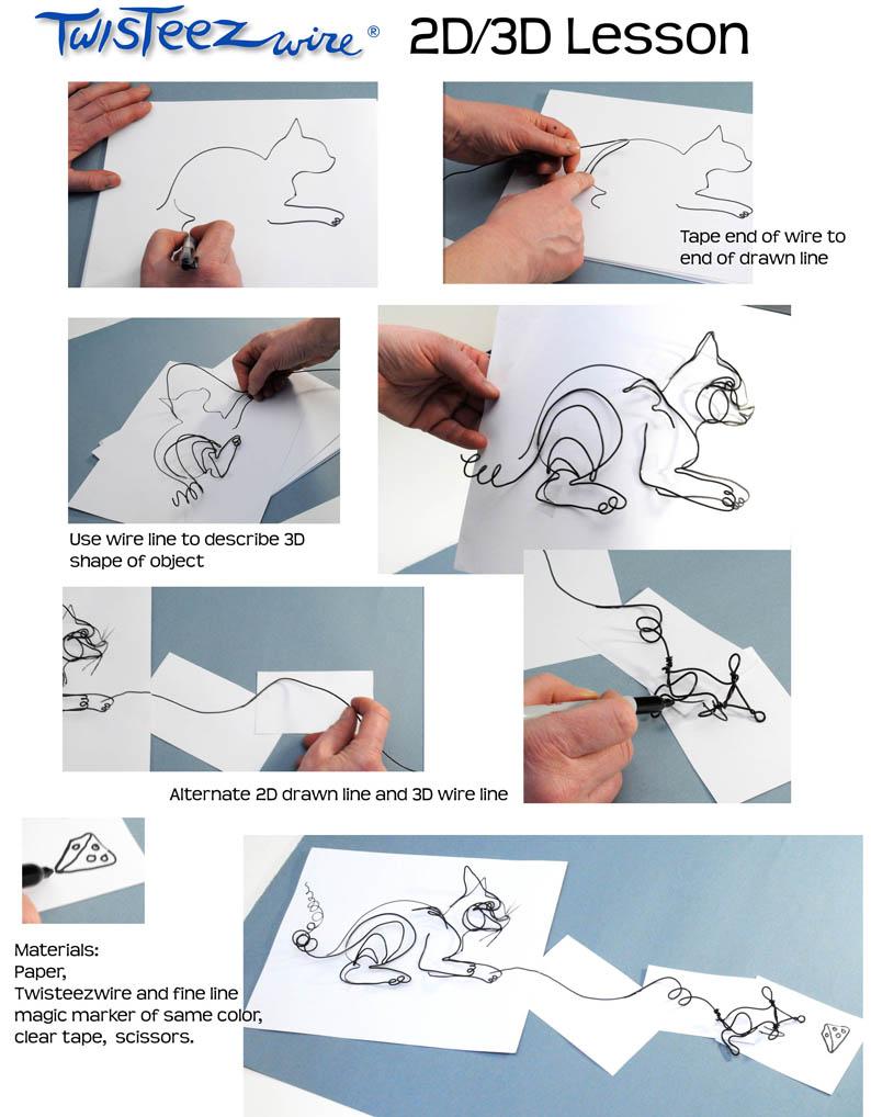 2d 3d Cat Lesson