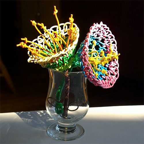 Macrame Wire Flowers