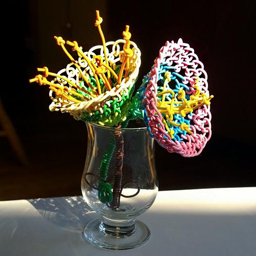 Macrame Wire Flowers