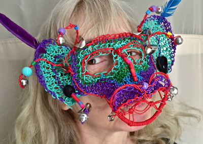 Owner Sandy with her wire mask