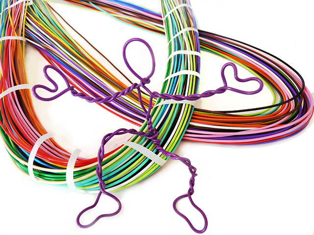 twisteezwire brightly colored sculpture and craft wire
