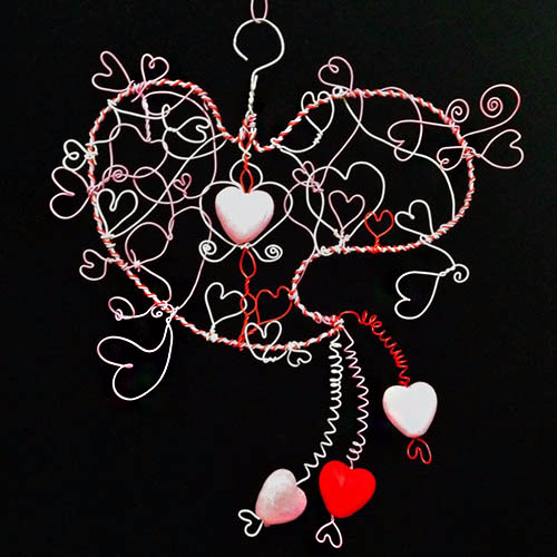 Valentine Wire Heart with Hanger