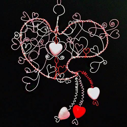 Valentine Wire Heart with Hanger