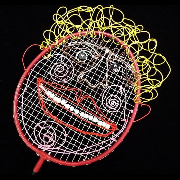 batminton racket mask
