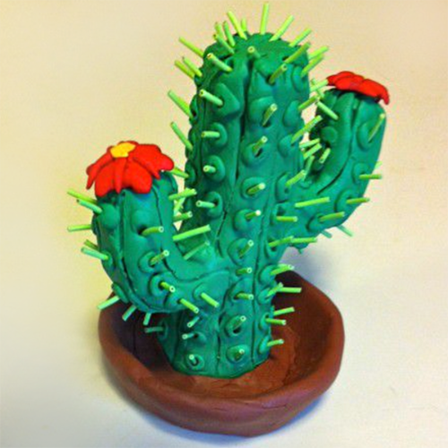 cactus polymer clay and twisteezwire