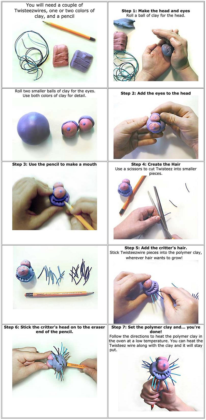 pencil top critter Lesson Image
